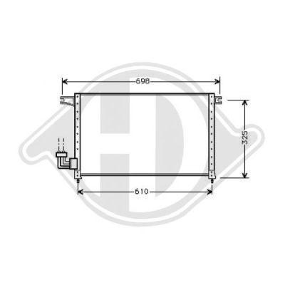 Condenseur, climatisation - Diederichs Germany - 8582200