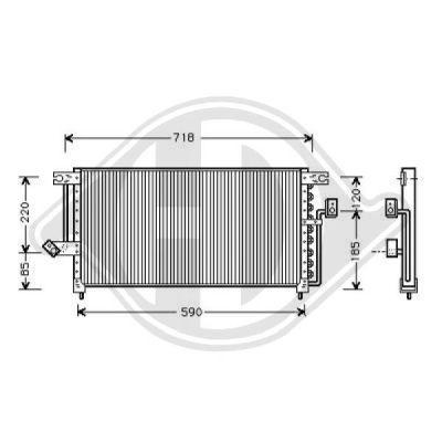Condenseur, climatisation - Diederichs Germany - 8582300