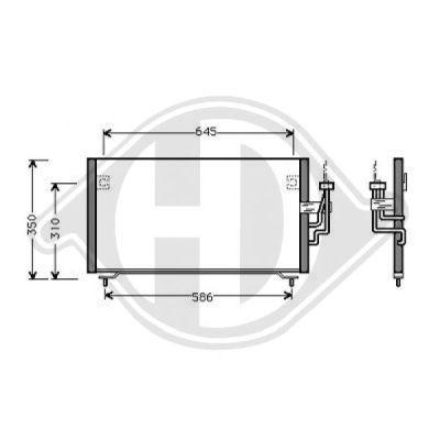 Condenseur, climatisation - Diederichs Germany - 8582400
