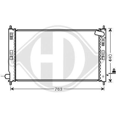Radiateur, refroidissement du moteur - HDK-Germany - 77HDK8583505
