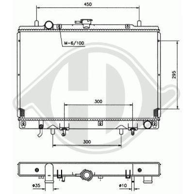 Radiateur, refroidissement du moteur - HDK-Germany - 77HDK8584186