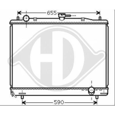 Radiateur, refroidissement du moteur - Diederichs Germany - 8584400