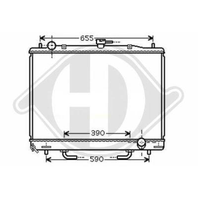 Radiateur, refroidissement du moteur - Diederichs Germany - 8584401