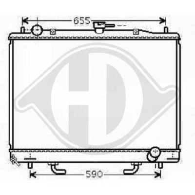 Radiateur, refroidissement du moteur - Diederichs Germany - 8584402