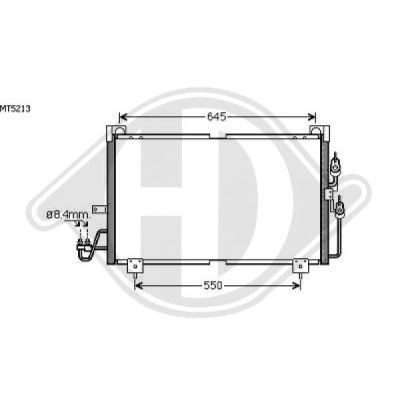 Condenseur, climatisation - Diederichs Germany - 8584600