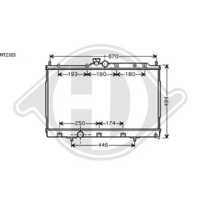 Radiateur, refroidissement du moteur - HDK-Germany - 77HDK8584601