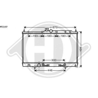 Radiateur, refroidissement du moteur - HDK-Germany - 77HDK8584602