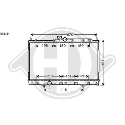 Radiateur, refroidissement du moteur - Diederichs Germany - 8584603