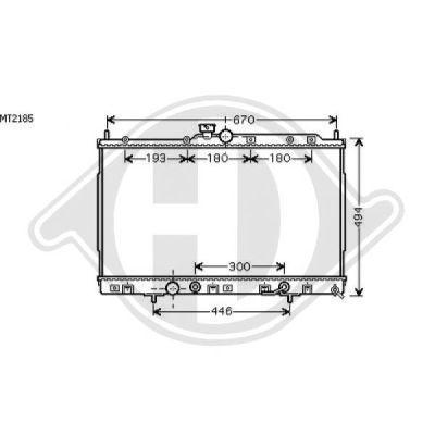 Radiateur, refroidissement du moteur - Diederichs Germany - 8584604