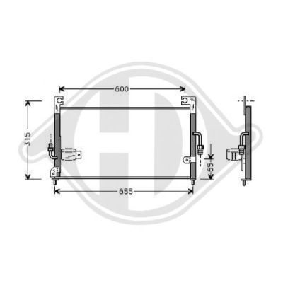 Condenseur, climatisation - Diederichs Germany - 8585001