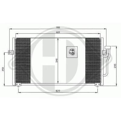 Condenseur, climatisation - HDK-Germany - 77HDK8586001