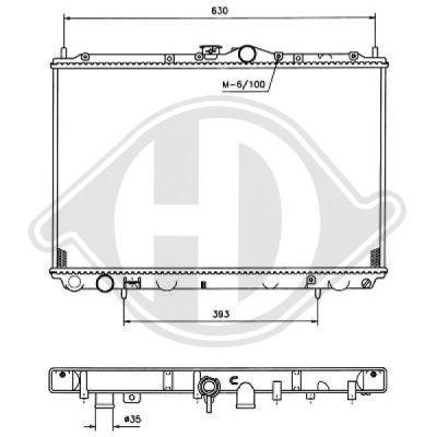 Radiateur, refroidissement du moteur - Diederichs Germany - 8586006