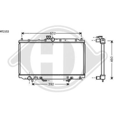 Radiateur, refroidissement du moteur - HDK-Germany - 77HDK8586007