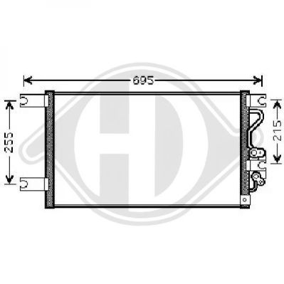 Condenseur, climatisation - Diederichs Germany - 8588000