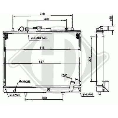 Radiateur, refroidissement du moteur - Diederichs Germany - 8588006