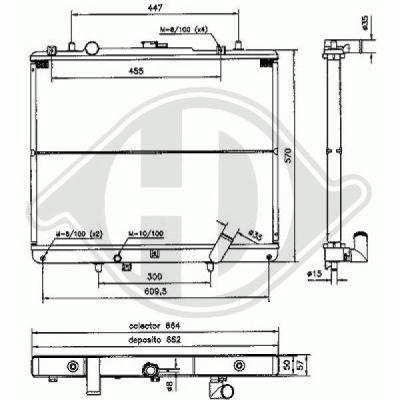 Radiateur, refroidissement du moteur - Diederichs Germany - 8588007