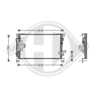 Condenseur, climatisation - Diederichs Germany - 8588009