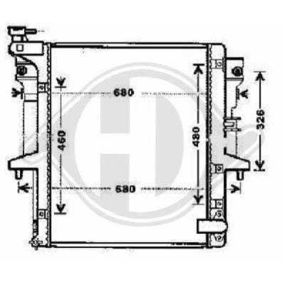Radiateur, refroidissement du moteur - Diederichs Germany - 8588106