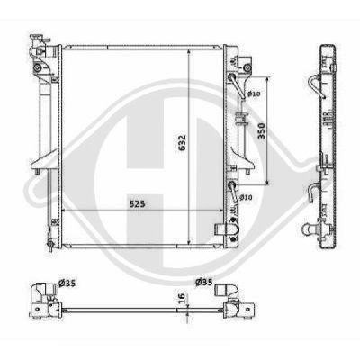 Radiateur, refroidissement du moteur - HDK-Germany - 77HDK8588107