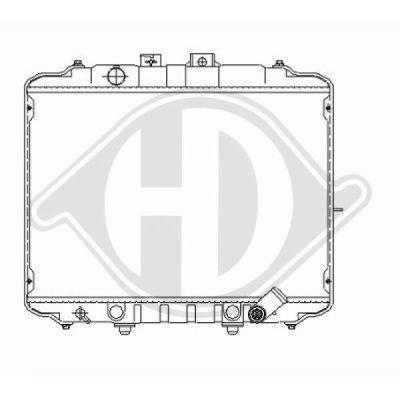 Radiateur, refroidissement du moteur - Diederichs Germany - 8588507