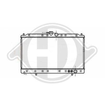 Radiateur, refroidissement du moteur - Diederichs Germany - 8589500