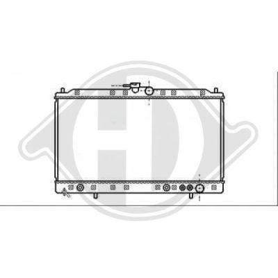Radiateur, refroidissement du moteur - HDK-Germany - 77HDK8589501