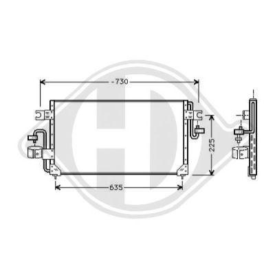 Condenseur, climatisation - HDK-Germany - 77HDK8601301