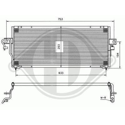 Condenseur, climatisation - Diederichs Germany - 8601505
