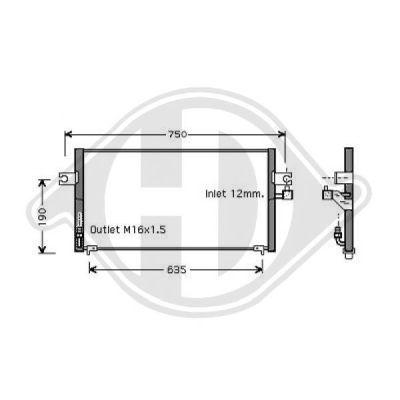 Condenseur, climatisation - Diederichs Germany - 8601506