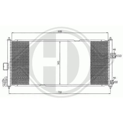 Condenseur, climatisation - Diederichs Germany - 8601600