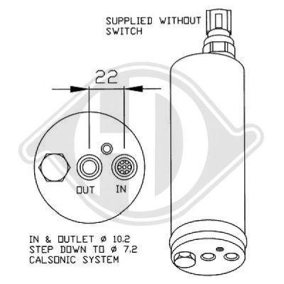 Filtre déshydratant, climatisation - Diederichs Germany - 8601601