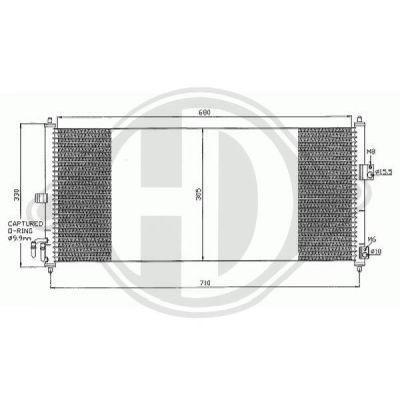 Condenseur, climatisation - Diederichs Germany - 8601602
