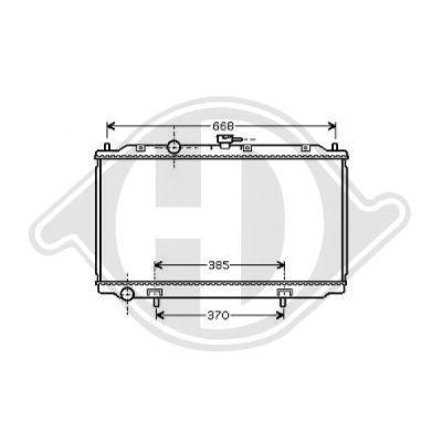 Radiateur, refroidissement du moteur - Diederichs Germany - 8601605