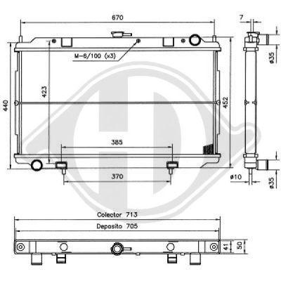 Radiateur, refroidissement du moteur - HDK-Germany - 77HDK8601606