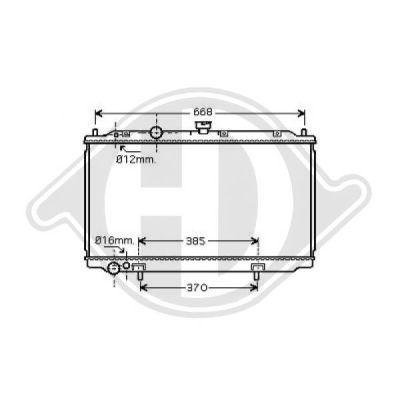 Radiateur, refroidissement du moteur - Diederichs Germany - 8601607