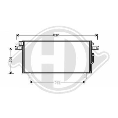 Condenseur, climatisation - Diederichs Germany - 8601608