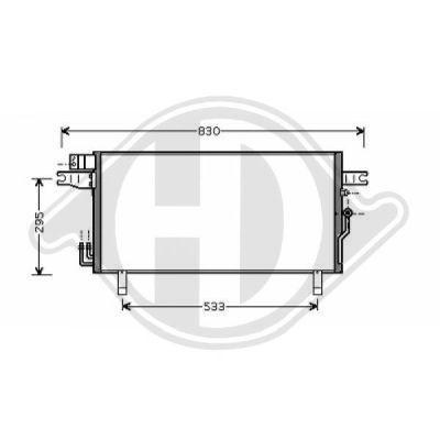 Condenseur, climatisation - Diederichs Germany - 8601609