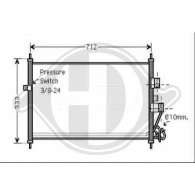 Condenseur, climatisation - HDK-Germany - 77HDK8601610