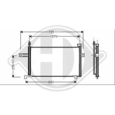 Condenseur, climatisation - Diederichs Germany - 8602200