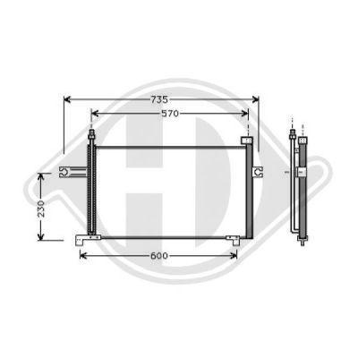 Condenseur, climatisation - Diederichs Germany - 8602202
