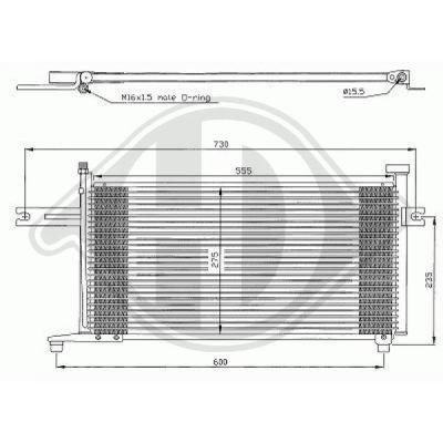 Condenseur, climatisation - Diederichs Germany - 8602300