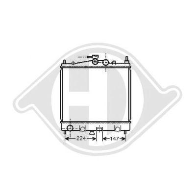 Radiateur, refroidissement du moteur - Diederichs Germany - 8602405