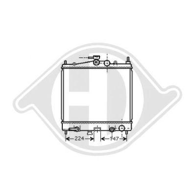 Radiateur, refroidissement du moteur - Diederichs Germany - 8602406