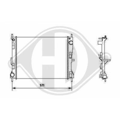 Radiateur, refroidissement du moteur - Diederichs Germany - 8602407
