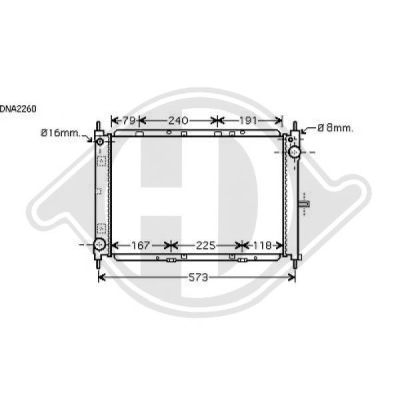 Radiateur, refroidissement du moteur - Diederichs Germany - 8602408