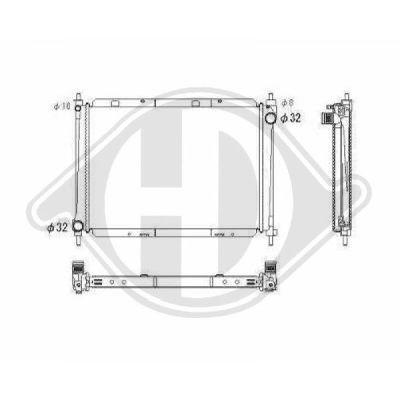 Radiateur, refroidissement du moteur - Diederichs Germany - 8602409
