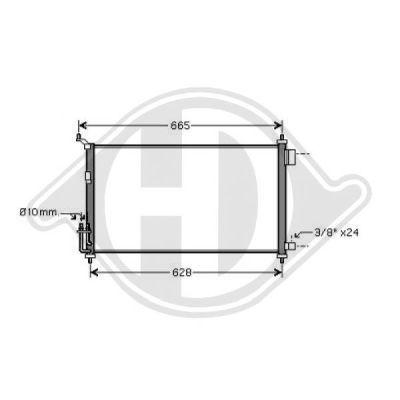 Condenseur, climatisation - Diederichs Germany - 8603500