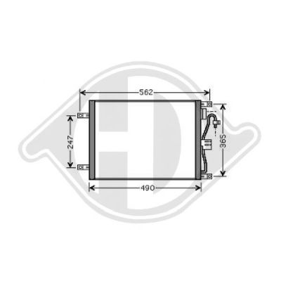 Condenseur, climatisation - Diederichs Germany - 8603501