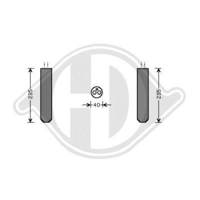 Filtre déshydratant, climatisation - HDK-Germany - 77HDK8603502