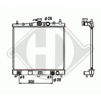 Radiateur, refroidissement du moteur - Diederichs Germany - 8603503